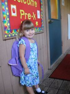 Ainsley's First Day of Preschool 2009 - 1